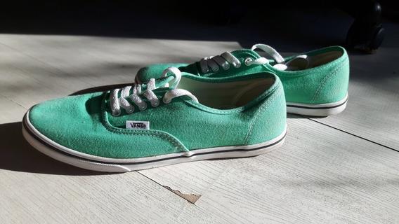 Zapatillas Vans Color Verdeagua Unisex Un Solo Uso