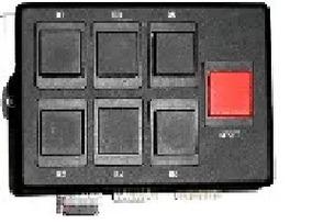 Módulo Botoeiras 7 Teclas Linear-hcs Controle De Acesso