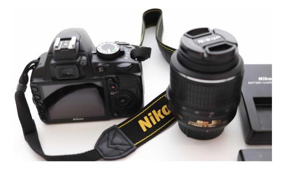Câmera Nikon Digital Reflex D3100 + Lente Af-s Dx 18-55mm