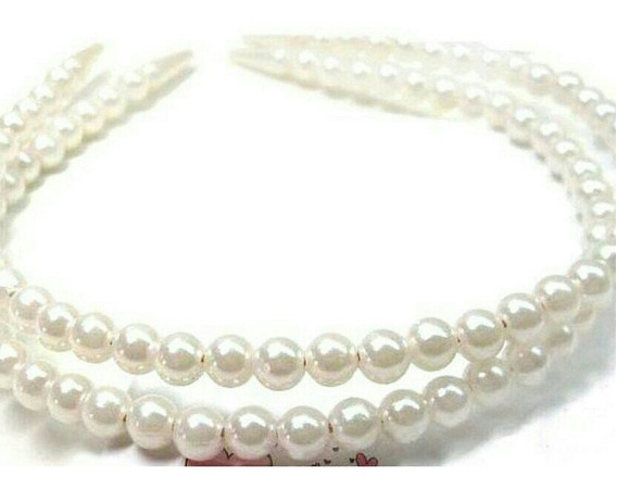 Cintillos De Perlas (6 Piezas)