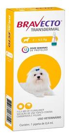 Antipulgas Bravecto Transdermal Cães De 2 A 4,5 Kg Msd
