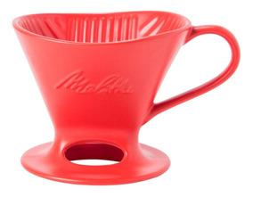 Suporte Para Filtro De Porcelana N4 Vermelho Melitta