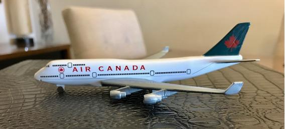Avião Air Canada Antigo Escala 1/500 14,5 Cm Usado Raro