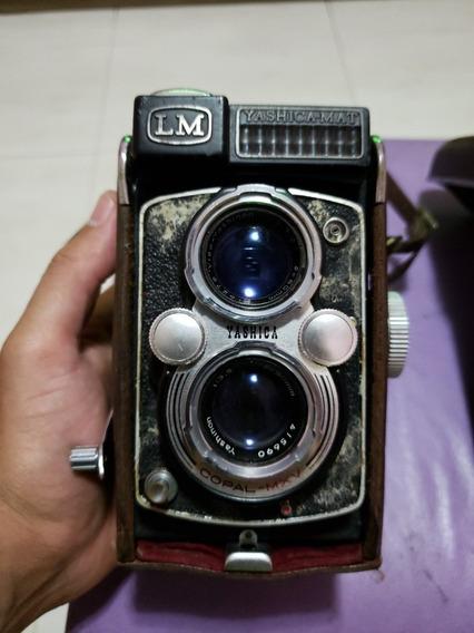 Maquina Fotográfica Yashica Mat Em Antiga Para Colecionador