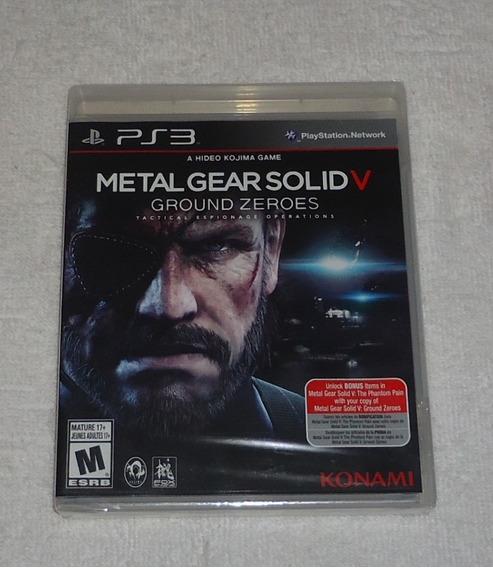 Metal Gear Solid V Ps3 Lacrado Leg Português * Leia