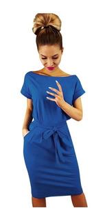 Elegante Vestido Casual Para Mujer Dama Moderno 5144