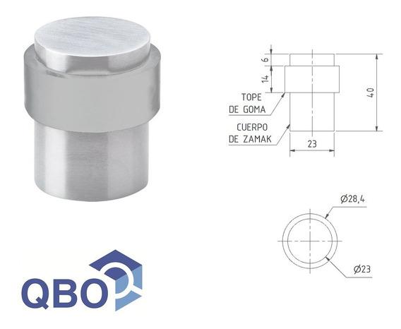 Tope Para Puerta Cilindrico De Aluminio Qbo