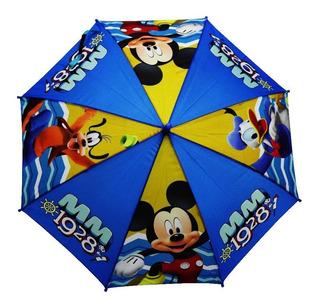 Sombrilla Mickey Niño Original Disney Resistente Calidad