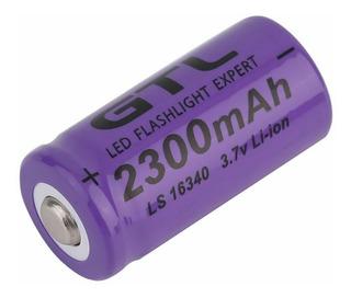 Pilas Baterias Cr123a Recargables Gtl 2300mah 3.7 16340