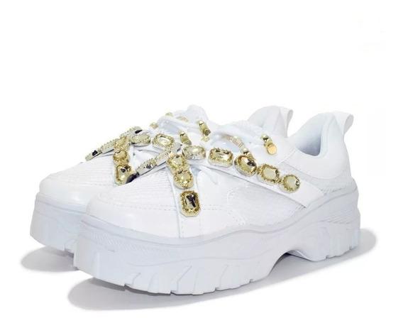 Tenis Gucci Strass Pedraria Lancamento 2020 Novo Na Caixa
