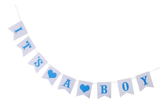 Baby Shower Es Un Chico Bunting Banner El Género Revela La