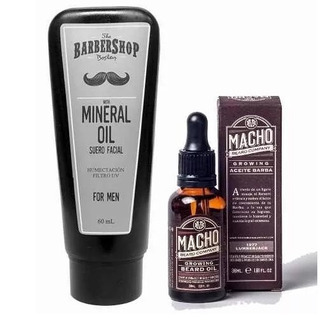 Kit X2 Tónico Macho + Aceite Mineral Barbershop Barba