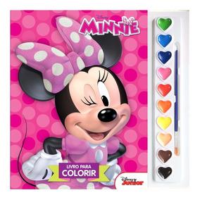 Livro Coleção Para Colorir Aquarela Disney - Minnie Mouse