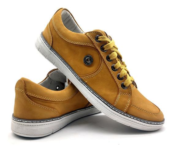 Sapato Masculino Sapatenis Casual Passeio Conforto Couro