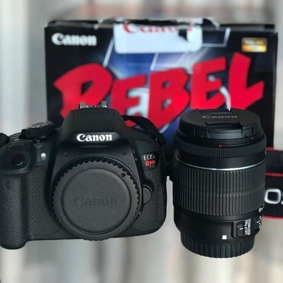 Canon T5i + Lente18-55 + Caixa
