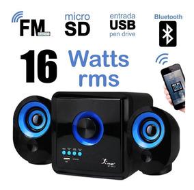 Caixa De Som 2.1 16w Rms Bluetooth Knup Kp-6012