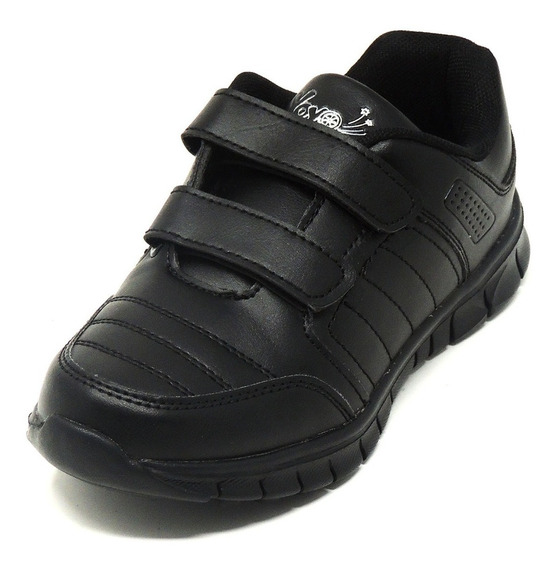 Zapatos Dep. Escolares Yoyo 14151v Negros 32-39 Envío Gratis