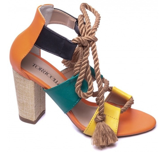 Sandália Sapato Feminina Salto Alto 9cm Luxo Lançamento