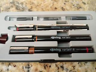 Estilógrafo Rotring Set 3 Nuevo