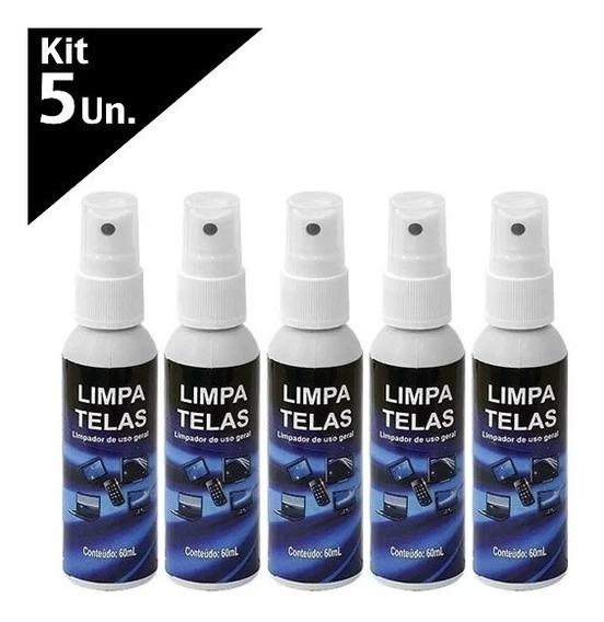 5 X Limpa Tela Tv Notebook Monitor Celular Led Lcd Original