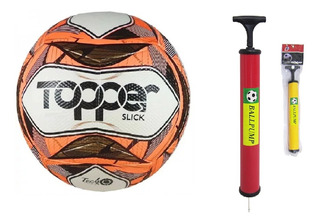 Bola Topper Slick Oficial Futebol + Bomba Ar Encher !