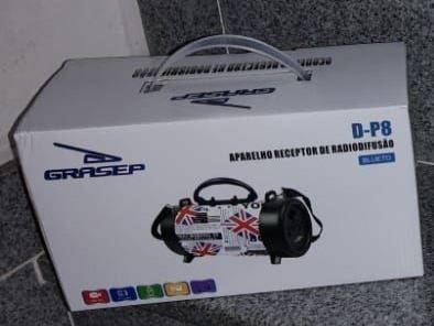 Caixa De Som Bluetooth D-p8MicrofoneCabo De Carga