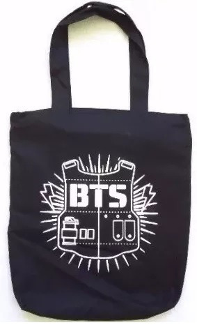 Bolsa Bts Bandas Coreanas Kpop Ecobag Tecido Escolar Passeio