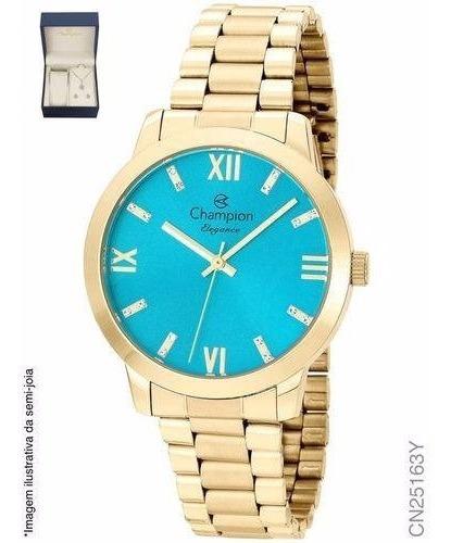 Relógio Champion Analógico Feminino Cn25163y Com Kit