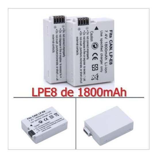 Bateria Canon Lpe8 Lp E8 1800mah T3i T4i T5i Kiss X4 700d X5