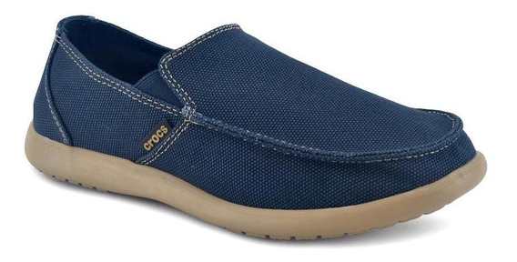 Mocasin Crocs Santa Cruz Clean Cut Navy/tumbleweed
