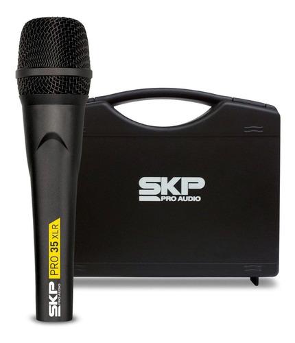 Microfone Vocal Profissional Cápsula Alemã Skp Pro35 Xlr