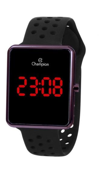 Relógio Feminino Marrom Champion Digital Pulseira Silicone