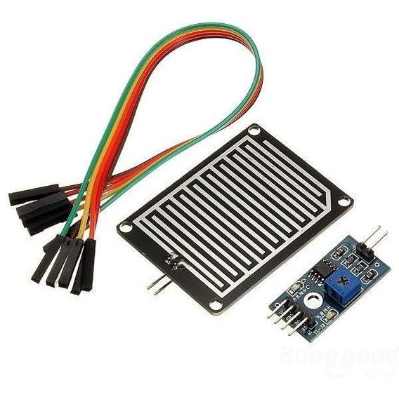 Módulo Sensor De Chuva Pingos Gotas De Água + Cabos Arduino