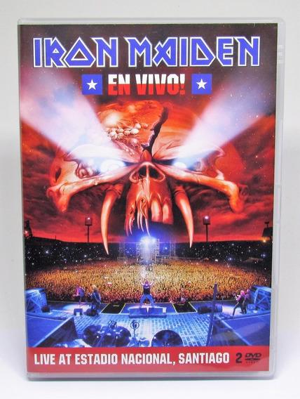 Dvd Duplo Iron Maiden Live At Estadio Nacional Santiago