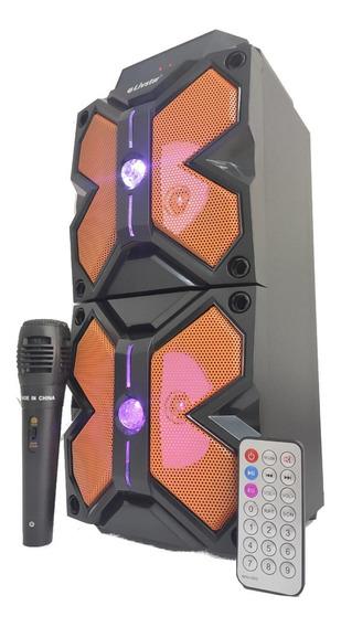 Caixa De Som Amplificada Via Bluetooth Usb Fm Mp3 Led