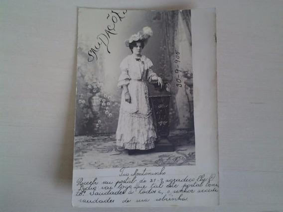 Fotografia Bilhete Postal Antigo De 1905