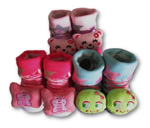 Medias Calcetines Para Bebes Muñecos 0-12m X 03 Unidades