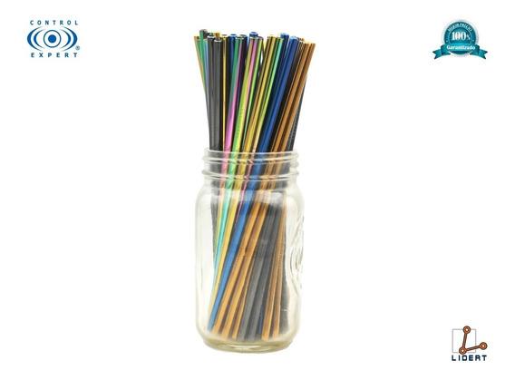 Popote Color Acero Inoxidable Pajilla Ecologico Bebida Pair2