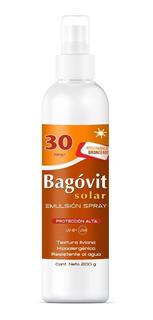 Bagovit Spray Solar Fps 30 Acelerador De Bronceado X 200gr