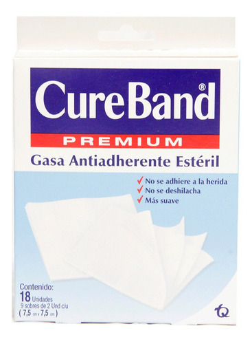 Cureband Gasa Esteril 7.5 X 7.5 Caja X 18und
