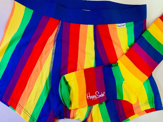 Kit Cueca E Meia Divertidas ( Coloridas) Happy Socks