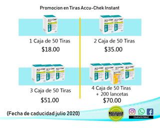 100 Tiras Acucheck Instant Selladas