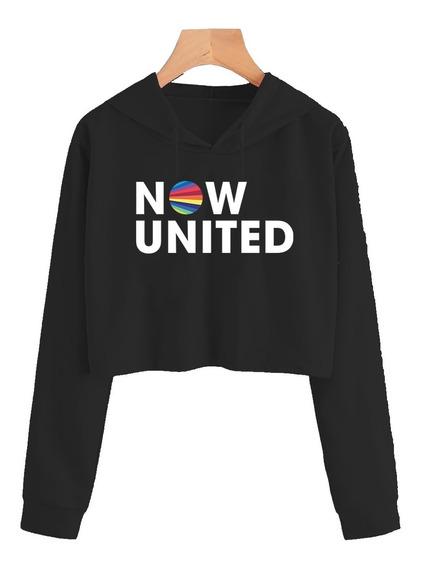 Cropped Feminino Now United Moletom Blusa Casaco - Promoção