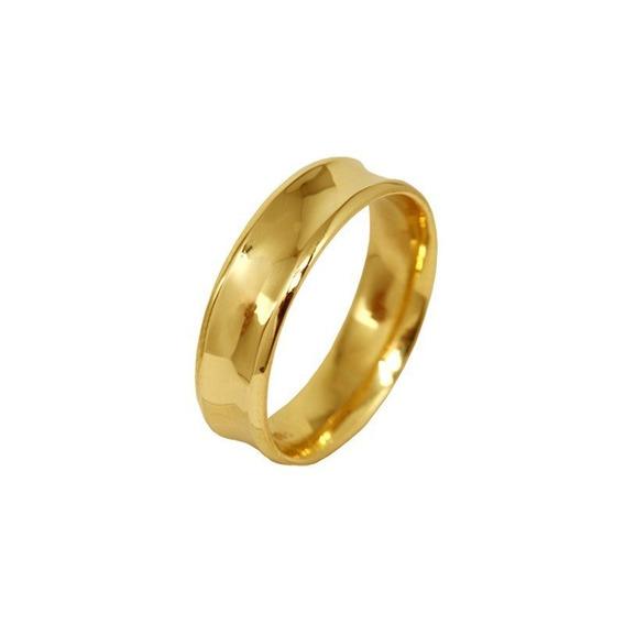 Aliança Casamento Ouro Amarelo 18k - 6mm - Código 7680
