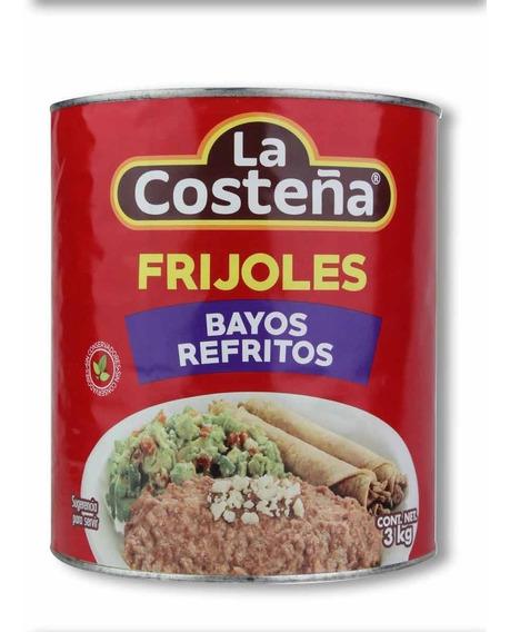 Frijoles Bayos Refritos La Costeña 3 Kg