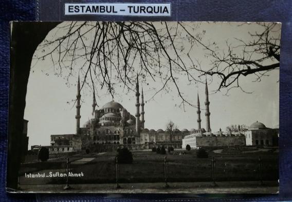 Postal Antigua De La Ciudad De Estambul Turquía