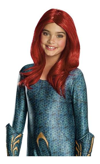 Disfraz Niña Peluca Aquaman Mera