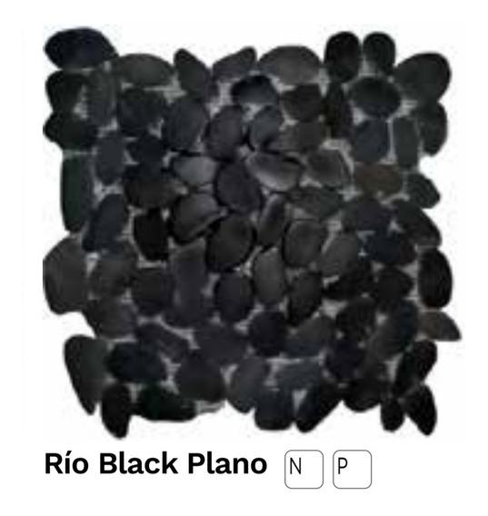 Malla De Piedras De Rio Black Plano Castel
