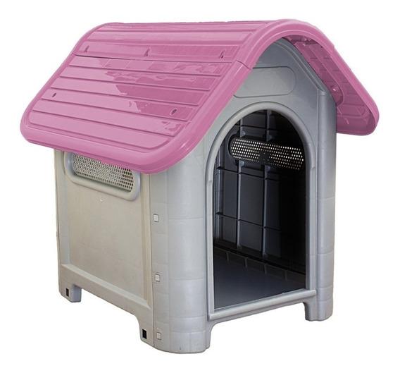 Casinha Plástica Para Cachorro Dog Home Número 3 Rosa