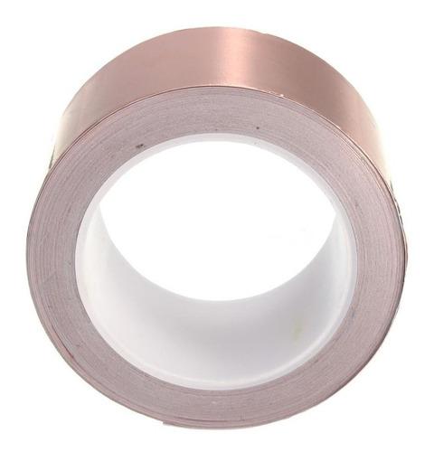 Fita De Cobre Adesiva P/ Blindagem E Proteção 30mm X 10 M